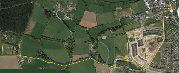 Walking Route from Newtownmountkennedy